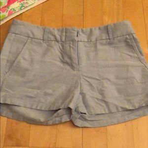 Oxford material blue shorts